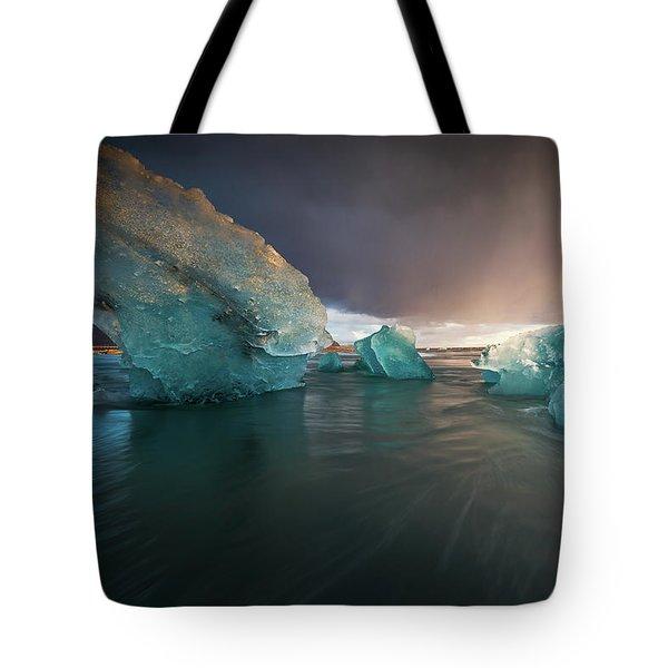 Big Ice Tote Bag by Allen Biedrzycki