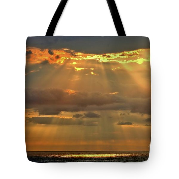 Tote Bag featuring the photograph Big Island Rays by DJ Florek