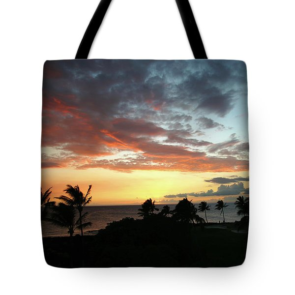 Tote Bag featuring the photograph Big Island Sunset #2 by Anthony Jones