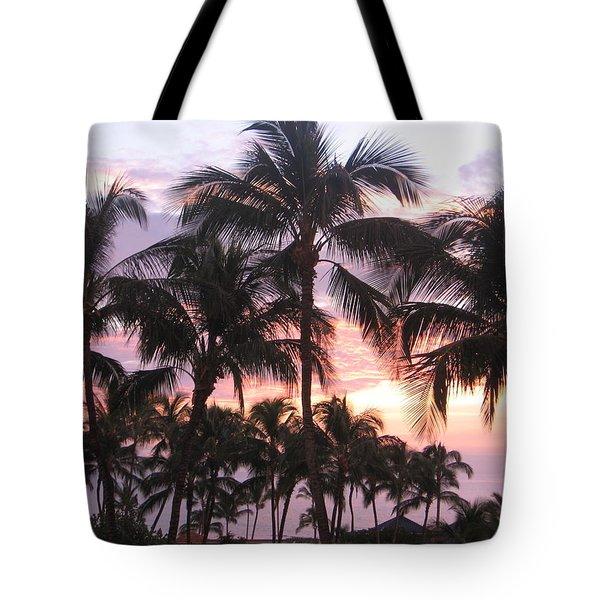 Big Island Sunset 3 Tote Bag