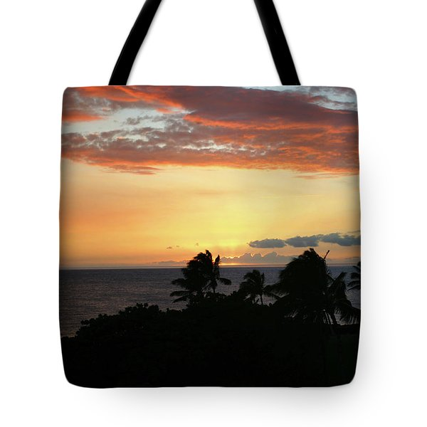 Tote Bag featuring the photograph Big Island Sunset by Anthony Jones