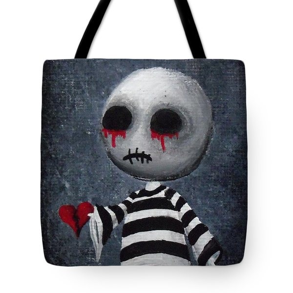 Big Juicy Tears Of Blood And Pain 1 Tote Bag by Oddball Art Co by Lizzy Love