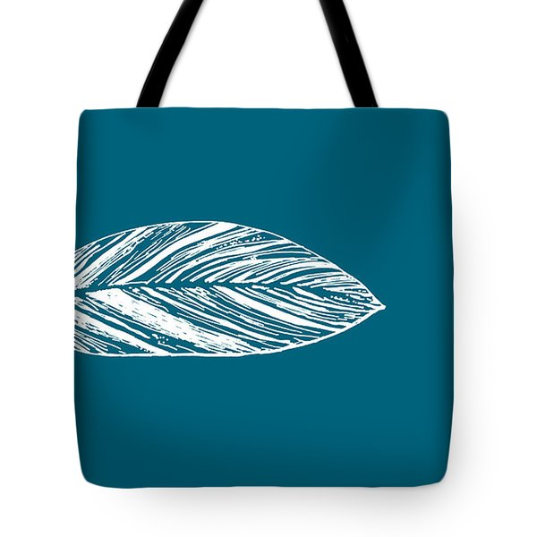 Big Leaf - Crystal Teal Tote Bag