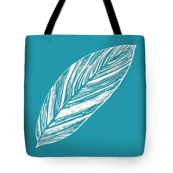 Big Ginger Leaf - Teal Tote Bag