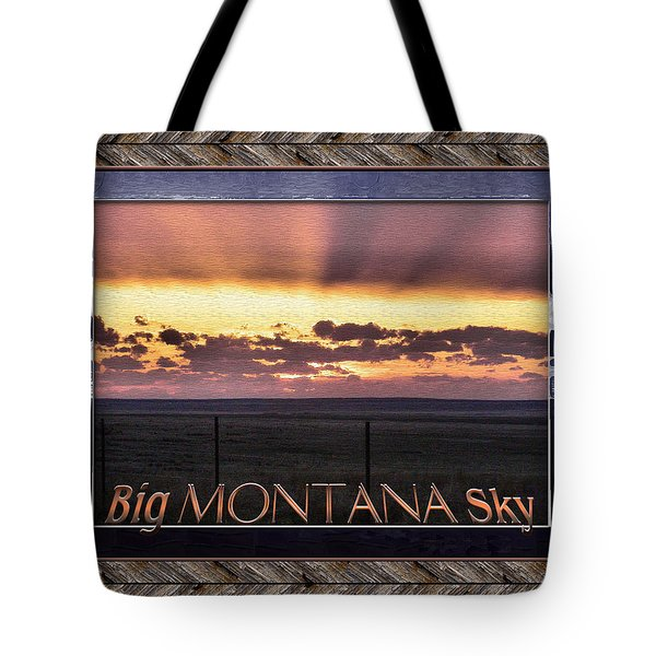 Tote Bag featuring the photograph Big Montana Sky by Susan Kinney