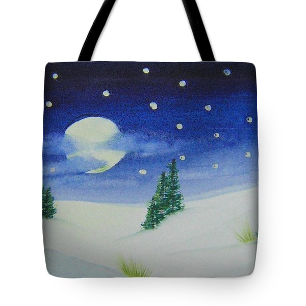 Big Moon Christmas Tote Bag