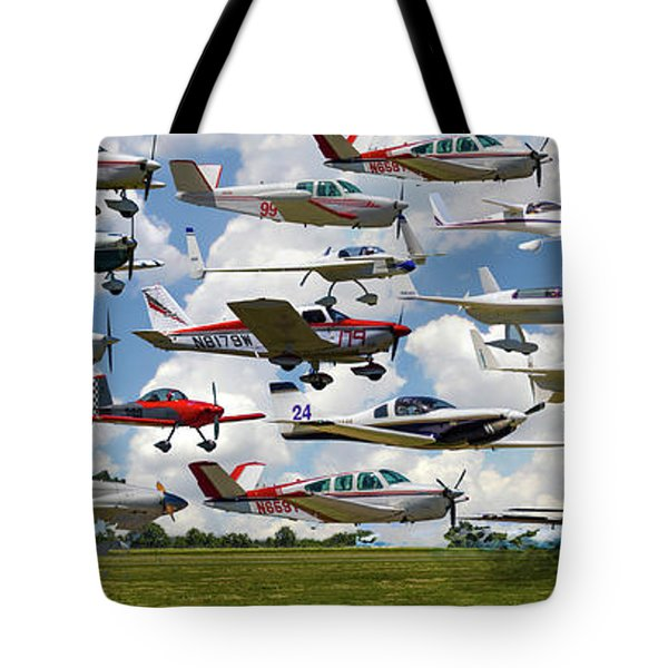 Big Muddy Fly-by Collage Tote Bag