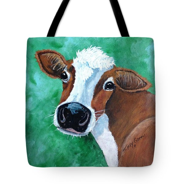 Big Nose Kate Tote Bag by T Fry-Green