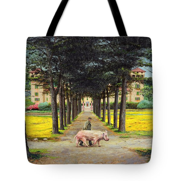 Big Pig - Pistoia -tuscany Tote Bag by Trevor Neal