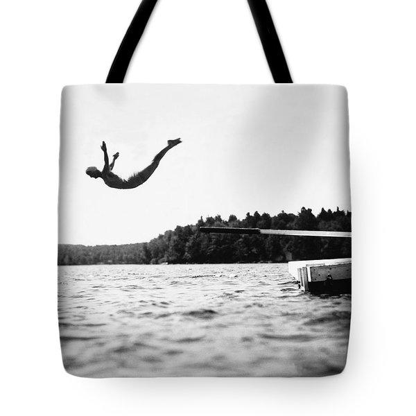 Big Pond Swan Dive Tote Bag