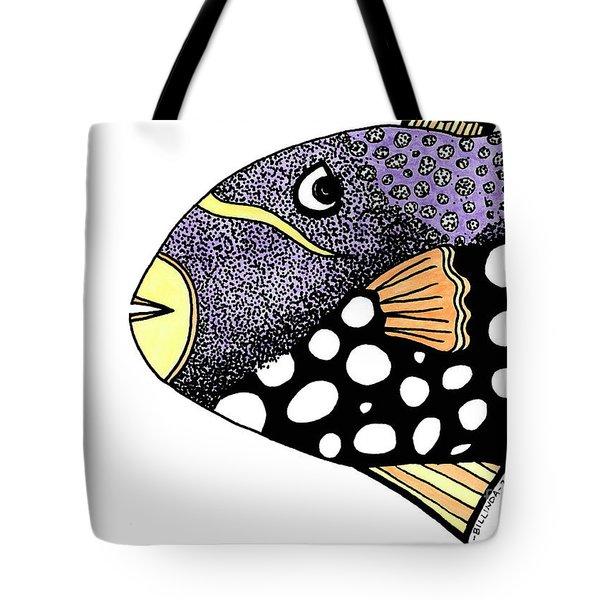 Big Purple Fish Tote Bag