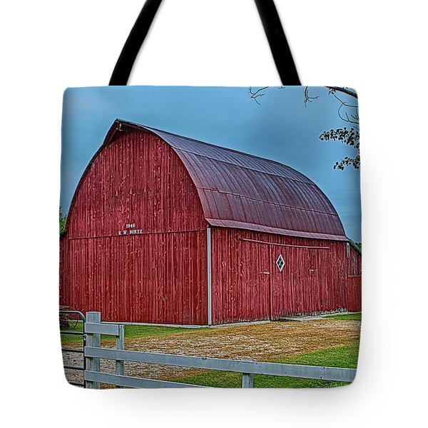 Tote Bag featuring the photograph Big Red Barn At Cross Village by Bill Gallagher