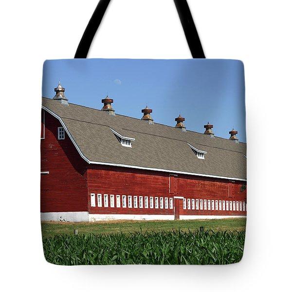 Big Red Barn In Spring Tote Bag