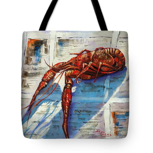 Big Red Tote Bag by Dianne Parks