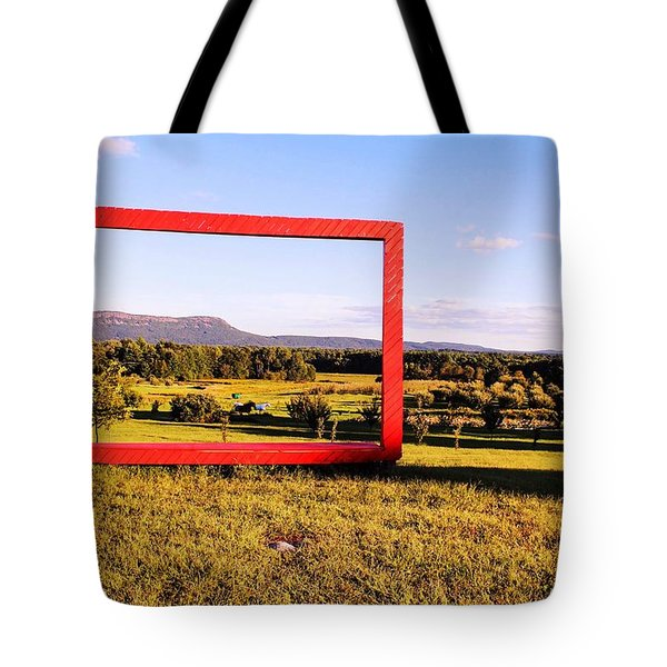 Big Red Frame Easthampton Tote Bag