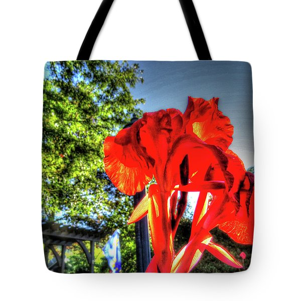 Tote Bag featuring the digital art Big Red by Kathleen Illes
