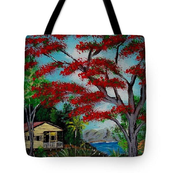 Big Red Tote Bag by Luis F Rodriguez