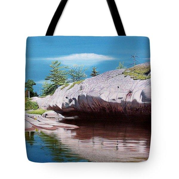 Big River Rock Tote Bag