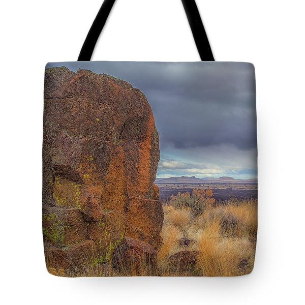 Big Rock At Lava Beds Tote Bag