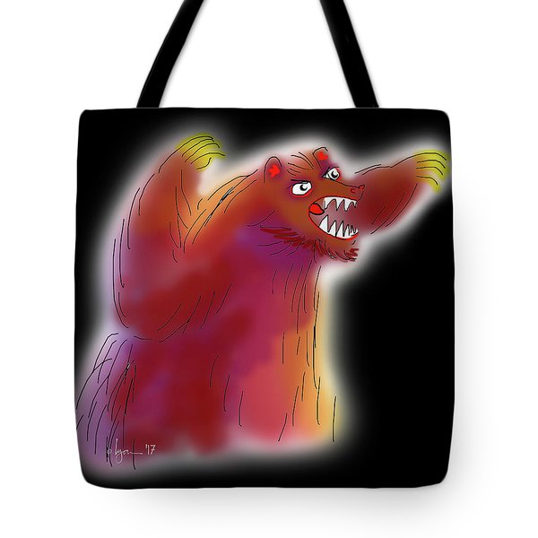 Big Scary Bear Tote Bag