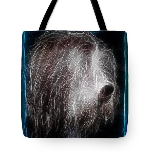 Tote Bag featuring the photograph Big Shaggy Dog by EricaMaxine  Price