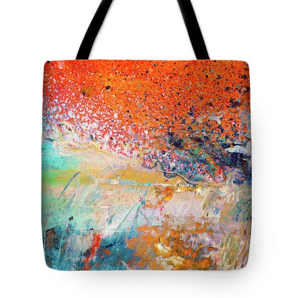 Big Shot - Orange And Blue Colorful Happy Abstract Art Painting Tote Bag