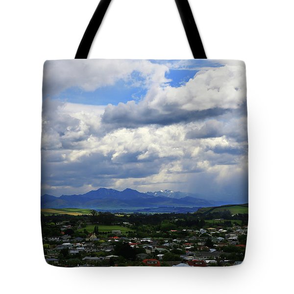 Big Sky Over Oamaru Town Tote Bag