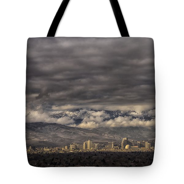 Tote Bag featuring the photograph Big Sky Over Reno by Janis Knight
