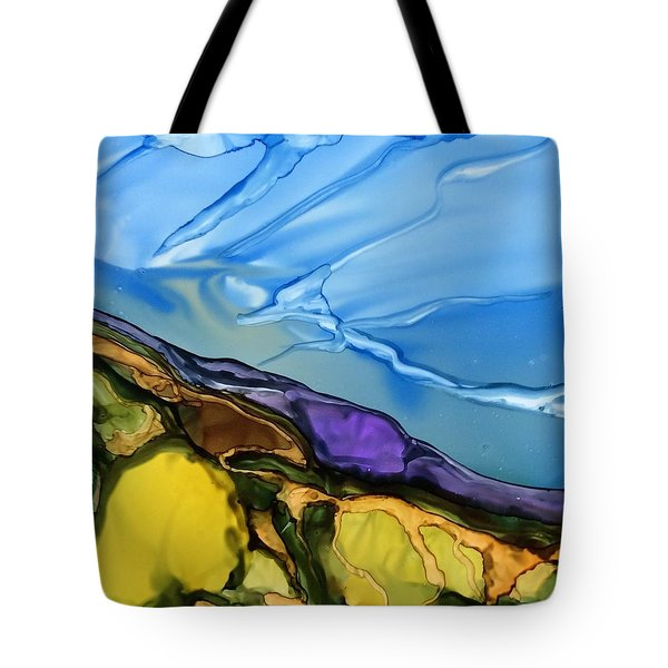 Tote Bag featuring the painting Big Sky by Pat Purdy