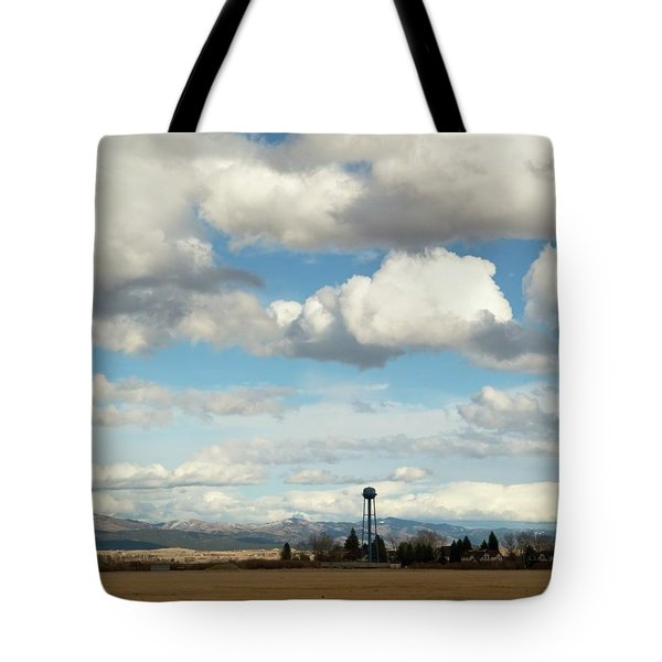 Tote Bag featuring the photograph Big Sky Water Tower by Dutch Bieber