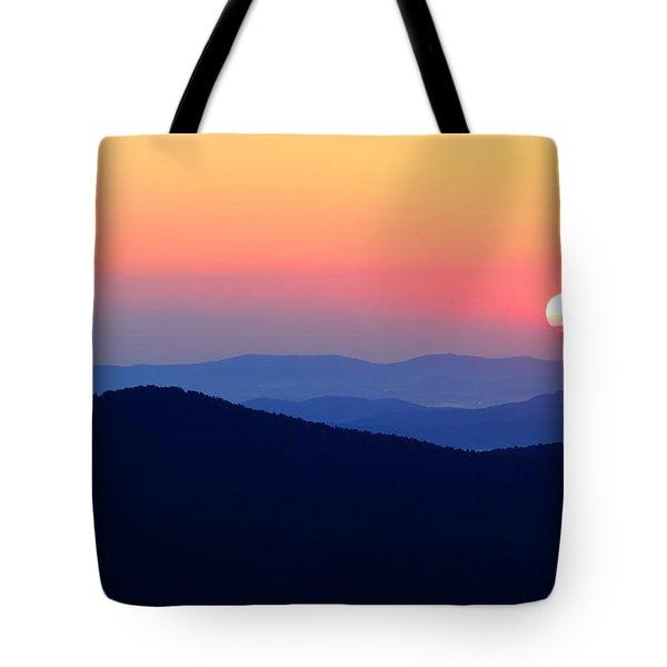Big Sunrise Off Blue Ridge Parkway Tote Bag