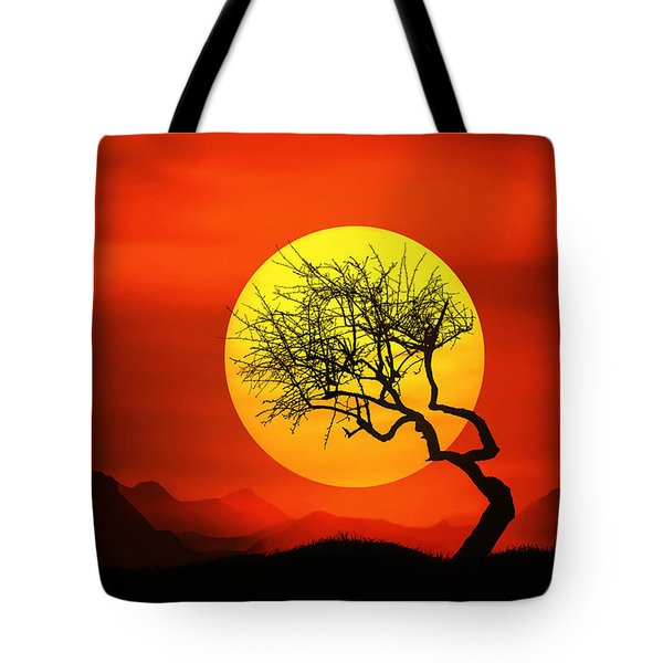 Big Sunset Tote Bag