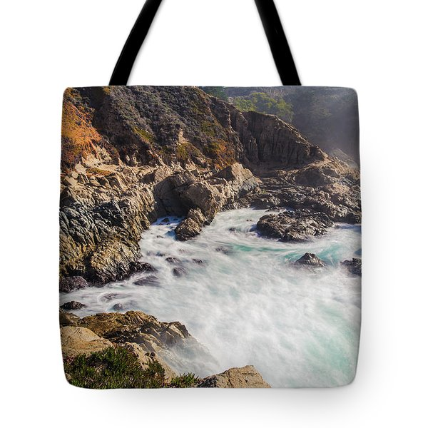 Tote Bag featuring the photograph Big Sur Coastline View Point by Jingjits Photography