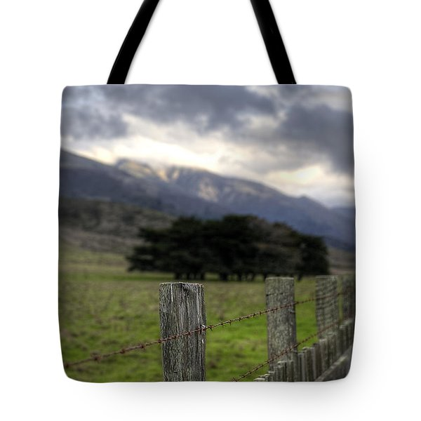 Big Sur Fence Line Tote Bag