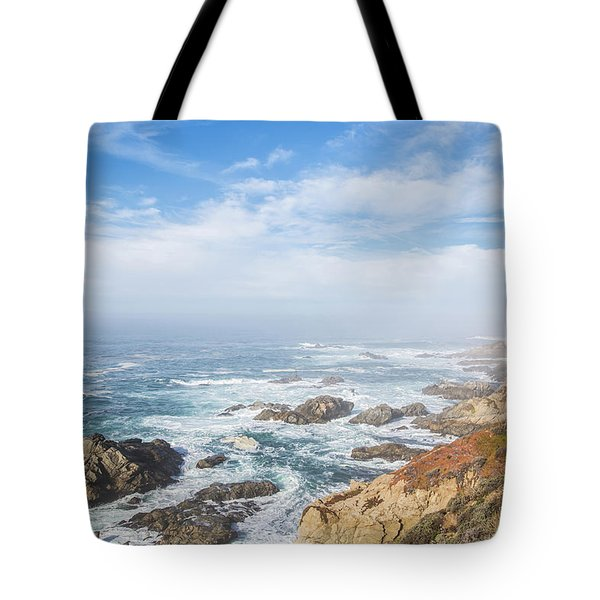 Tote Bag featuring the photograph Big Sur Sea View by Jingjits Photography
