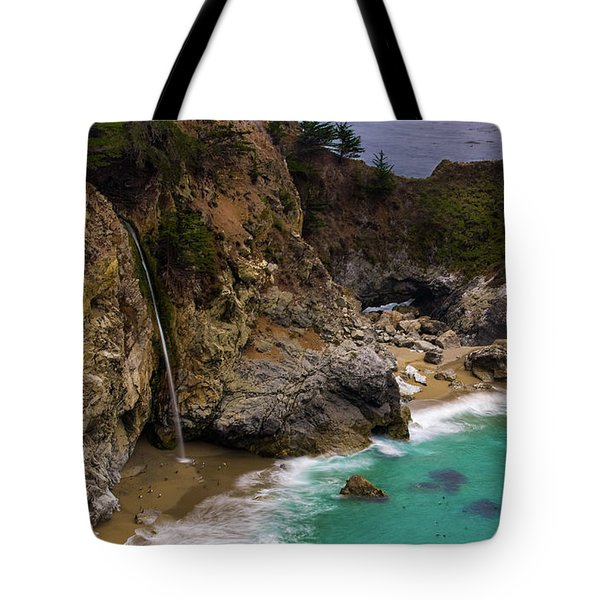 Big Sur Waterfall Tote Bag