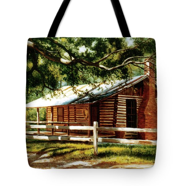 Big Thicket Information Center_the Staley Cabin Tote Bag