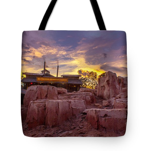 Big Thunder Mountain Sunset Tote Bag