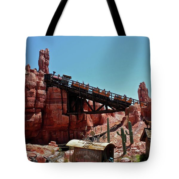 Big Thunder Mountain Walt Disney World Mp Tote Bag by Thomas Woolworth