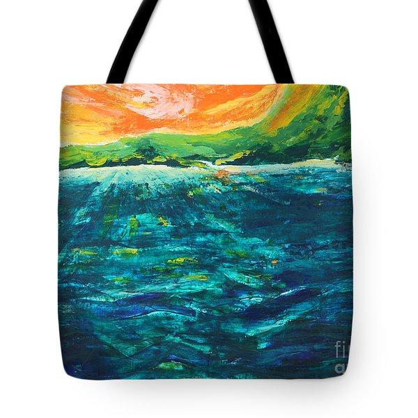 Big Tropical Wave Tote Bag