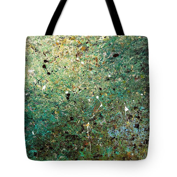 Tote Bag featuring the painting Big Universe - Abstract Art by Carmen Guedez