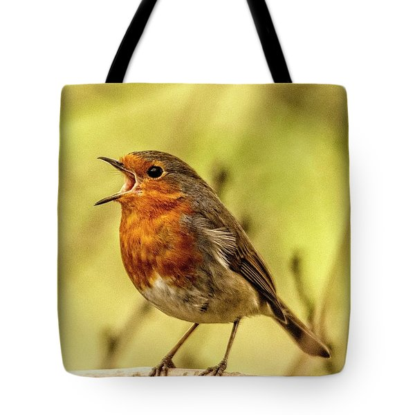 Tote Bag featuring the photograph Big Voice Robin  by Cliff Norton
