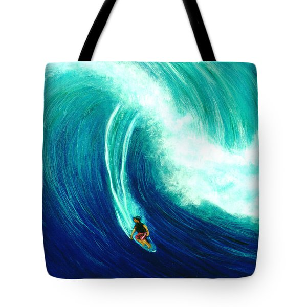 Big Wave North Shore Oahu #285 Tote Bag by Donald k Hall