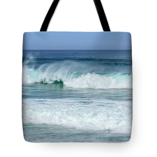 Big Waves Tote Bag by Marion McCristall