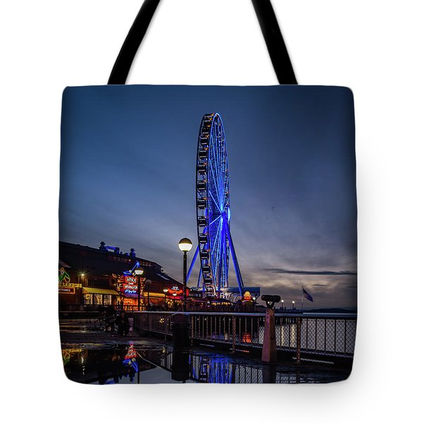 Big Wheel Reflection Tote Bag