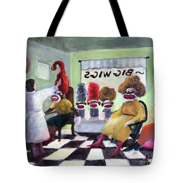 Big Wigs And False Teeth Tote Bag