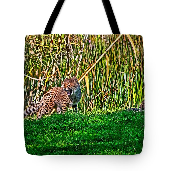 Big Yawn By Little Cub Tote Bag