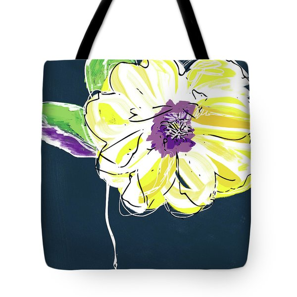 Big Yellow Flower- Art By Linda Woods Tote Bag
