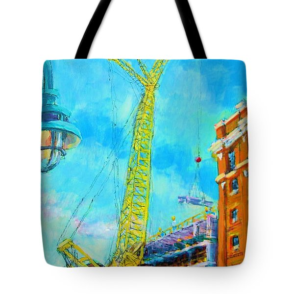 Tote Bag featuring the painting Big Yellow by Les Leffingwell