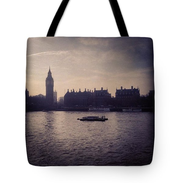 #bigben #london Tote Bag by Chikkas By Fran Galea